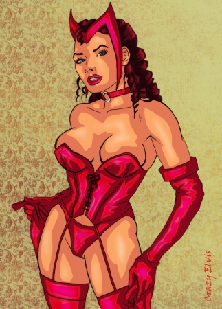 Scarlet Witch colored