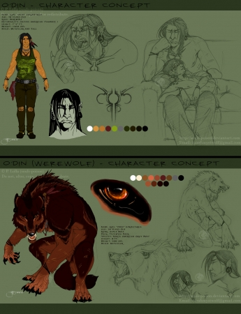 Character Concept Sheet - Odin