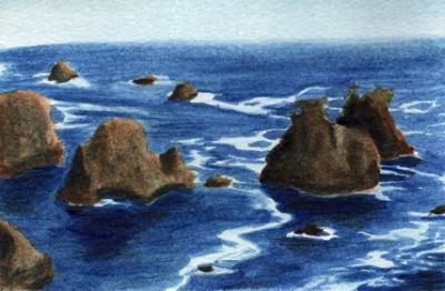 Coastal Rocks postcard