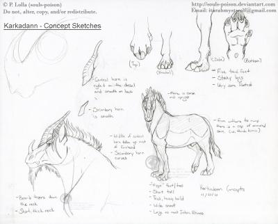 Karkadann - Concept Sketches