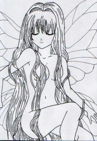 *Uncoloured* Midnight Fairy