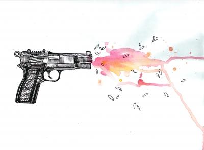 Flower in the Gun Barrel