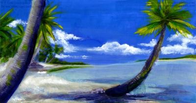White Sand Beach - Speedpaint