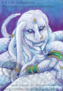 White Snake ACEO