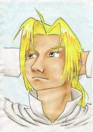 FMA: Ed linework colored