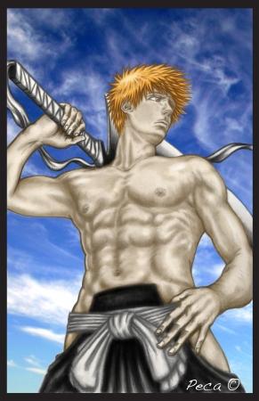 Ichigo after training colored