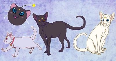 Sailor Moon kitty stickers