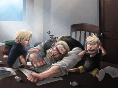 Als der Vater schläft...