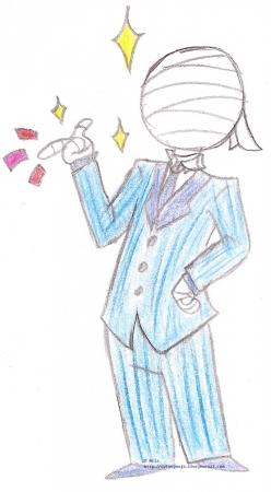 A blue suit  huh? SHARP!