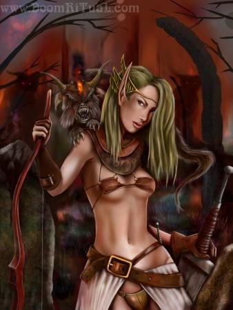 Elf in Ruins