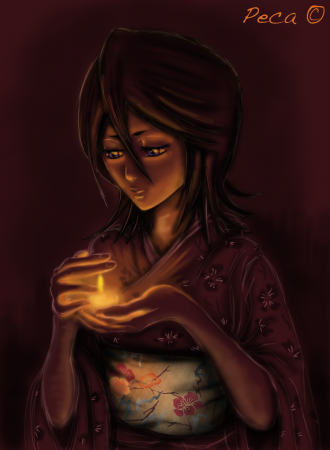 Rukia holds a candle of hope