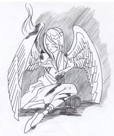 battered angel sketch