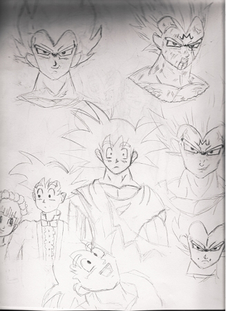Dragon Ball Z Sketches 1