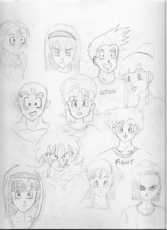 Dragon Ball Z Sketches 2