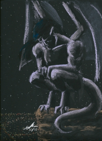 Gargoyles: Goliath brooding