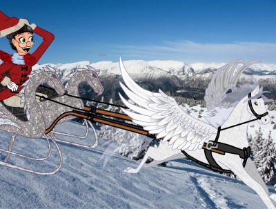 Pegasus Drawn Sleigh
