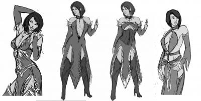Commission sketches: Mari