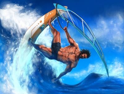 Windsurfen mach mir Spaß