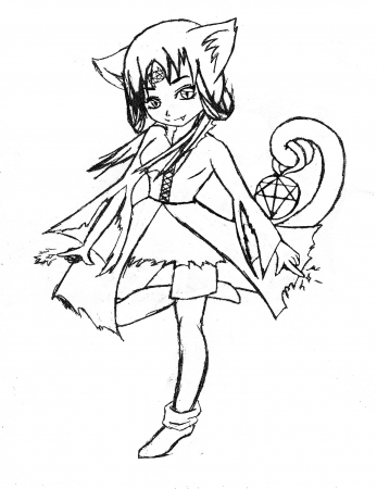 Occult Cat Girl Sketch