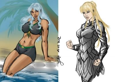Sketches: Shay + Isira