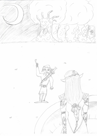 Link and Zelda (Aww  so cute!)