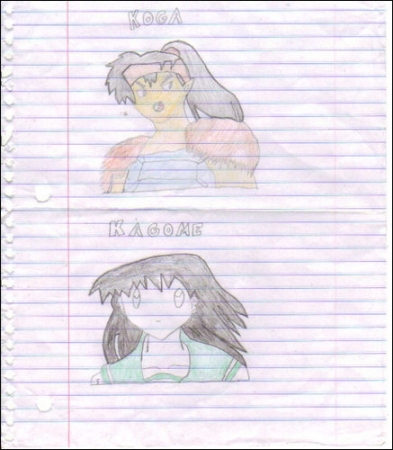 Kagome and Kouga
