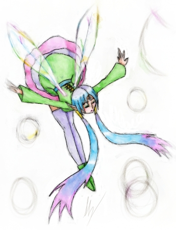 Faerie Made With Crayon