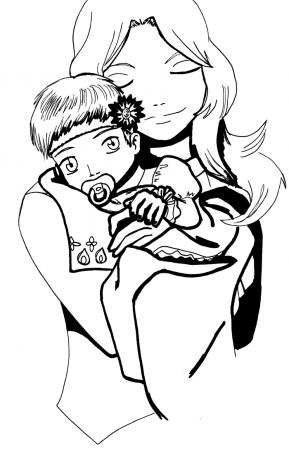 Mana with Baby Julian