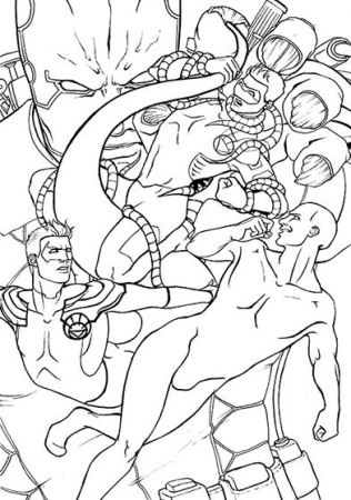 New 52 tentacle fun- Lineart