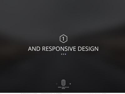 ONE Creative Homepage Layout w