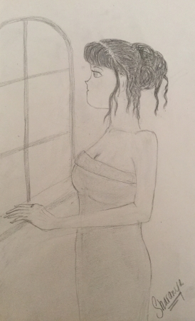Girl by the window