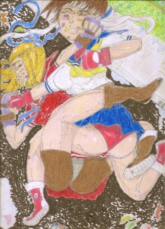 SFIII: Karin vs. Sakura