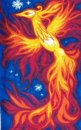Phoenix in marker