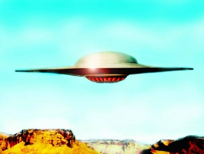 FORBIDDEN PLANET FLYING SAUCER