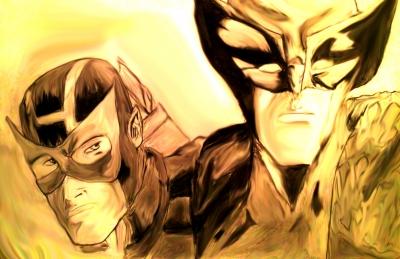 Dark Wolverine + Hawkeye