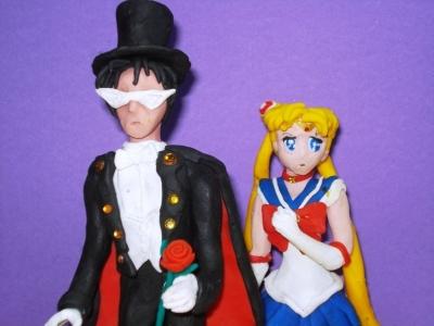 Sailor Moon and Tuxedo Max