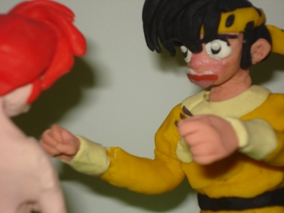 Ranma and Ryoga (stopmotion)