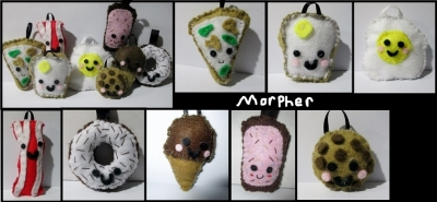 Food Plush Keychains