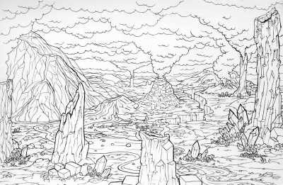 Volcanic Alien Landscape