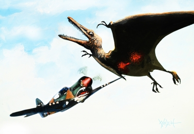 FLYING TIGER VS PTERODACTYL