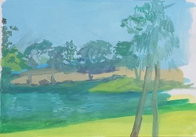 Sketch painting at Vasona Lake