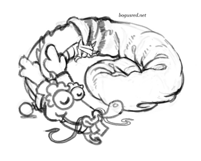 [Sketch daily] Shenshort nap