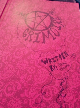 Inside Cover of  Old Grimoire
