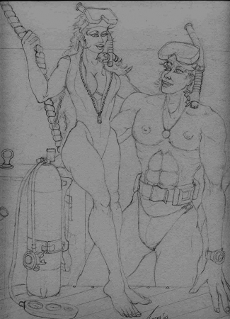 Scuba Diving Couple Study