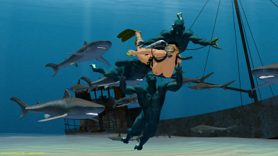 Deadly Shark Battle R