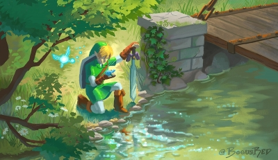 Link discovers ocarina redraw