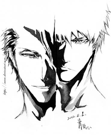 Aizen Sosuke and Kurosaki Ichi