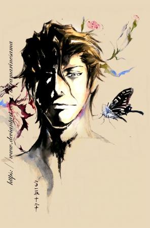 Aizen Sosuke Watercolor