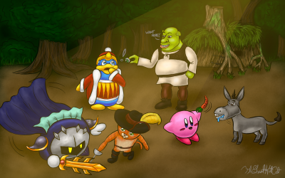 Kirby + Shrek: Swamp Encounter
