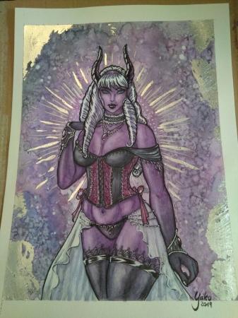 Art Trade: Demon Lady